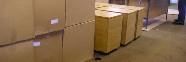 stack of moving boxes