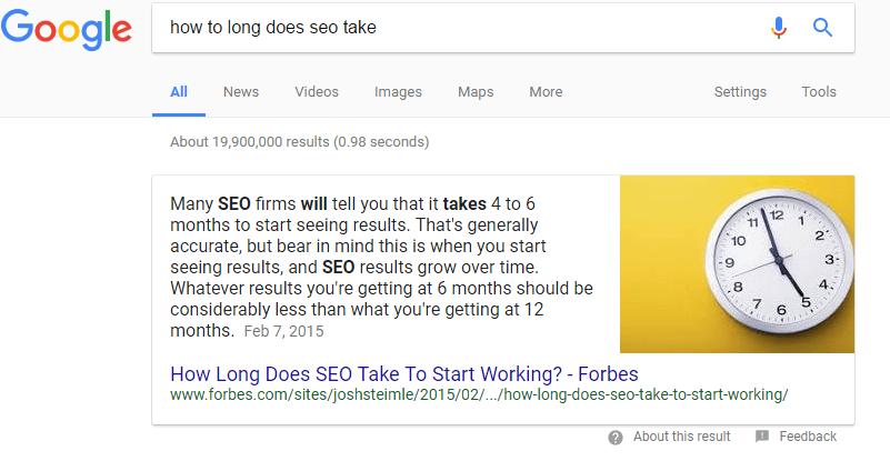 Google Position 0 SEO