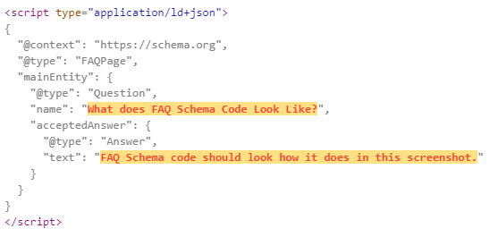 faq schema code